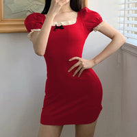 'Cherry Pie' Black or red dress dress with bow