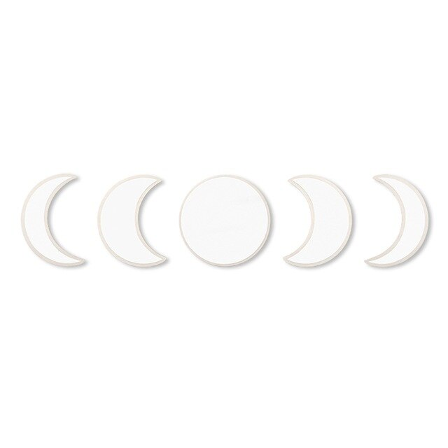 5pcs Moon Phase Decorative Wall Mirror