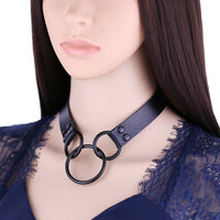 'Returned' PU Leather Choker