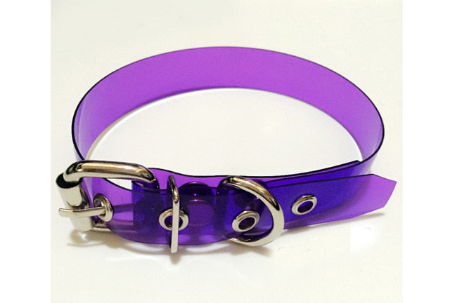 'Venom' Black / Purple transparent PVC choker