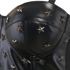 'Matrix' PU Leather Bustier Top