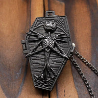 Nightmare Before Christmas Coffin Pocket Watch Necklace