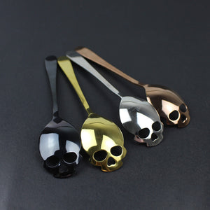'Sweet Cheeks' Skull Teaspoons (SET OF 5, one spoon free!)