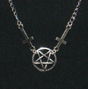 Double Cross Pentagram Pendant Necklace
