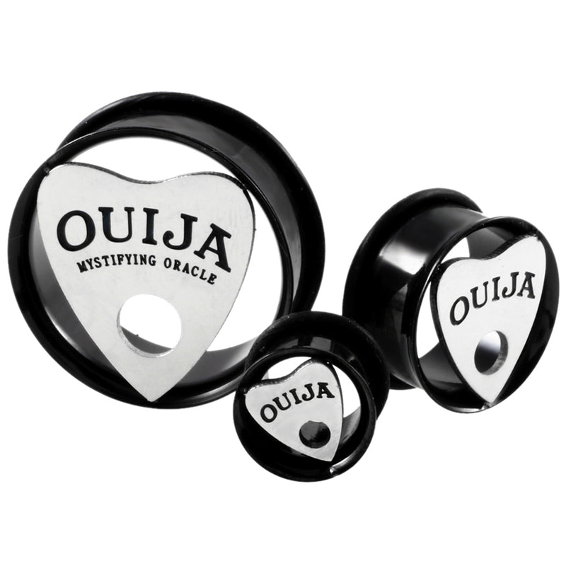 PAIR of ouija Single Flared Flesh Tunnel - 10mm-30mm