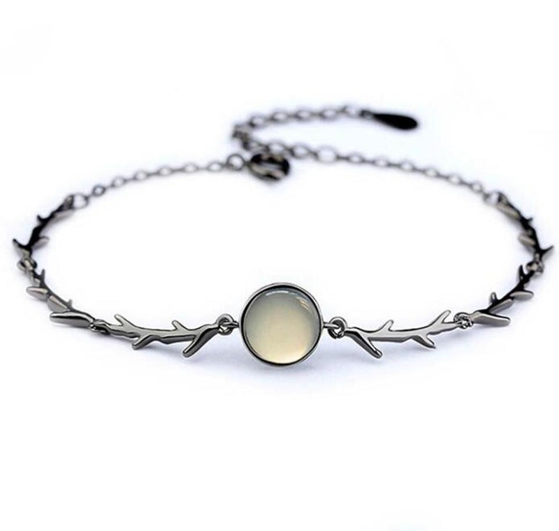 'Moonlight Guidance' Silver branch bracelet