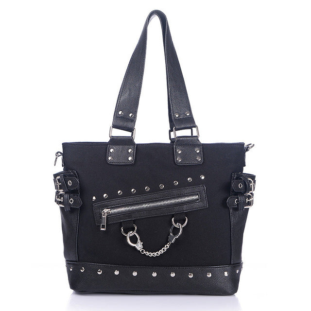 'Rebel Rebel' Black handcuff handbag