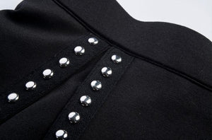 'Riveting'  Black studded Skirt