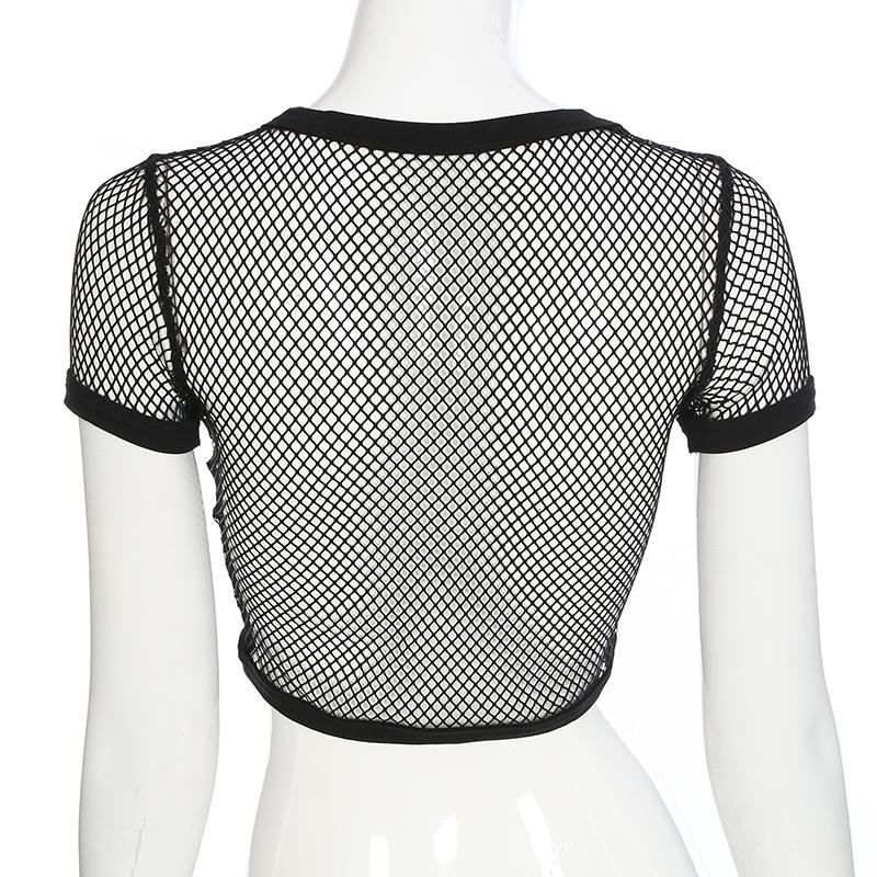 'Courtney' fishnet t shirt