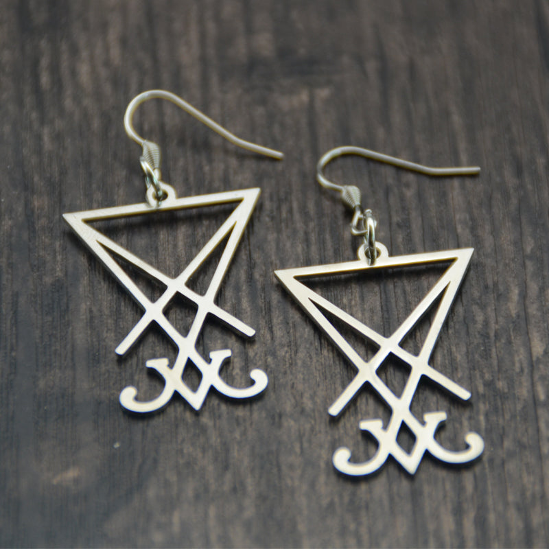 'Lucifer' Earrings, Pair