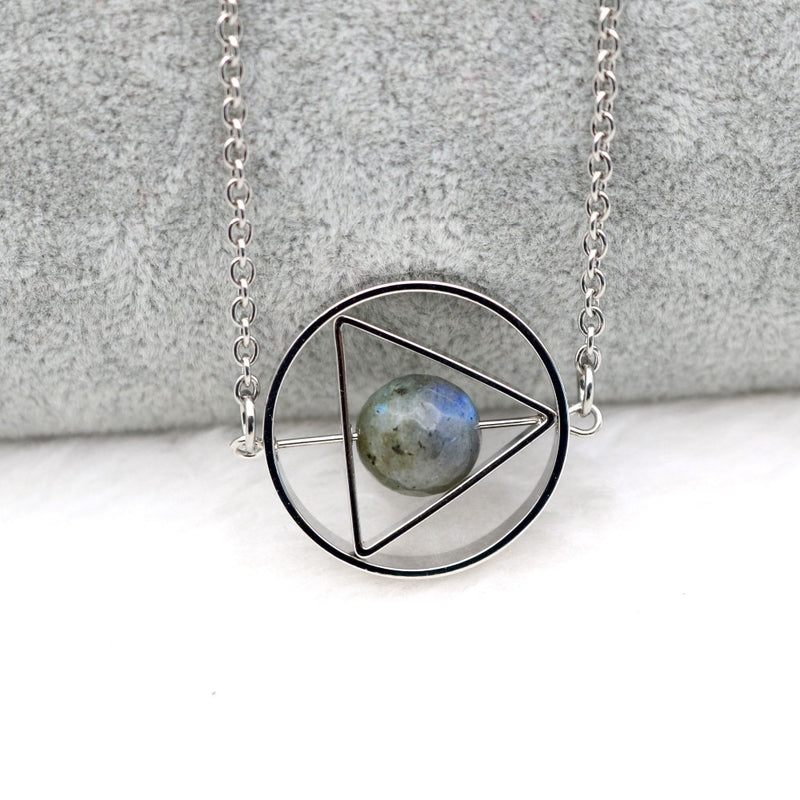 'Ritual Healing' Rotating Moon Celestial Necklace