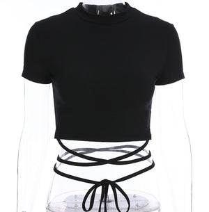 'Damage' Lace Up T-shirt