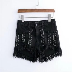 'Deadstar' Multiple ring hot pants
