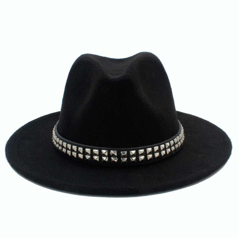 'Shade Bather' Black stud fedora hat (4 Colours)