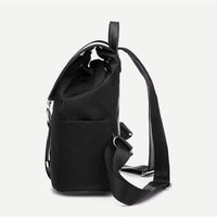 'Give em hell' Black ring clip rucksack