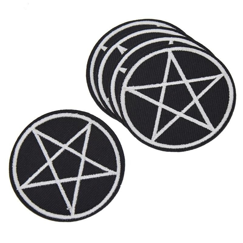 Pentagram patch 5 pack