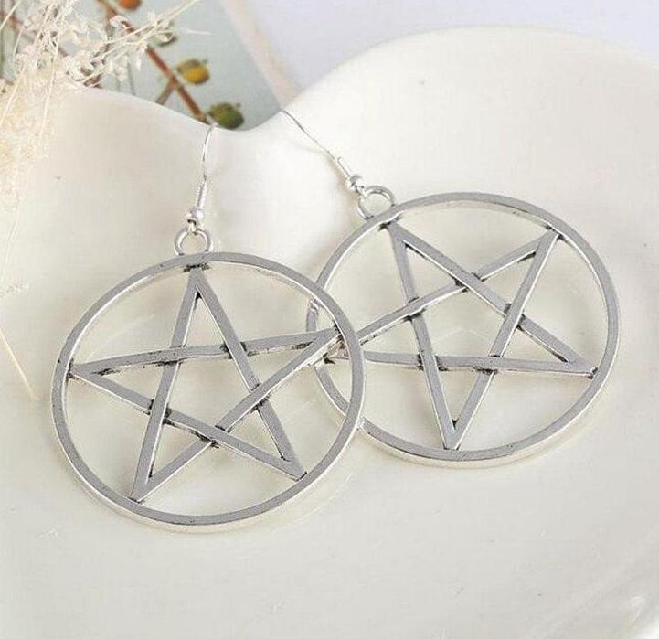 Large Pentagram Earrings