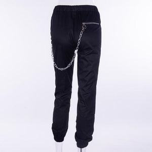 ´Engraved´ Harem Chain Zipper Pants