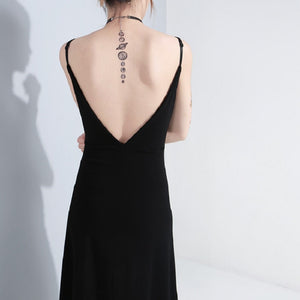 'Redemption' Black eyelet dress