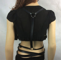 'Disorderly' Black faux leather harness