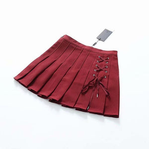 'Armageddon' Black/Red Mini Skirt