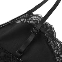 'Crazy Train' PU Leather and Lace Bra