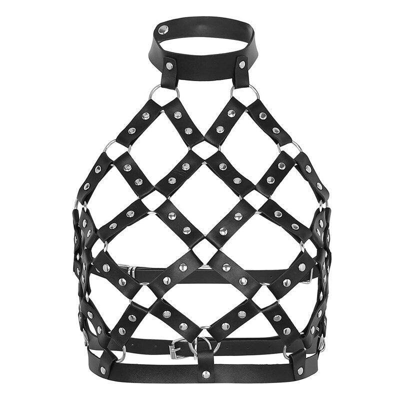'Antilight' O'Ring PU Leather Harness