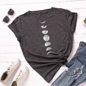 'Just a Phase' Moon phase t shirt 2 colours. S-5XL