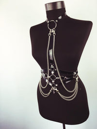 'Slave for you' Chain O ring harness