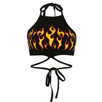 'Heat it up' Flame Crop Top