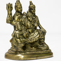 Brass idol of Shiva parivar with kartik small