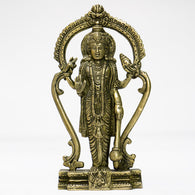 Brass idol of lord vishnu standing