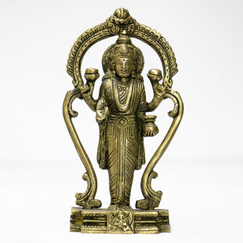 Brass idol of Goddess Lakshmi