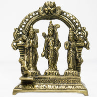 Brass idol of Lord Rama parivar