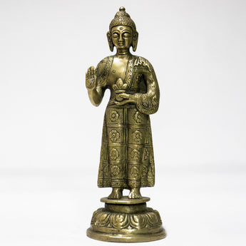 Brass idol of Buddha Standing