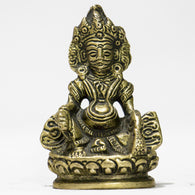 Brass idol of Wealth God Kuber