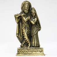 Brass idol of Radha Krishna together