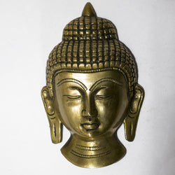 Brass Buddha face wall mount