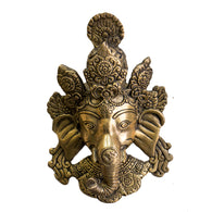 Brass Ganesha face wall mount