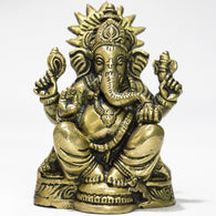 Brass Lord Ganesha sitting