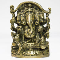 Brass Lord Ganesha panchmukhi- five face