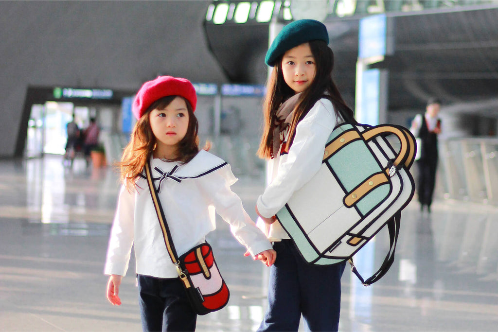 Little Fashion Models were off to Okinawa with our cute cartoon bags