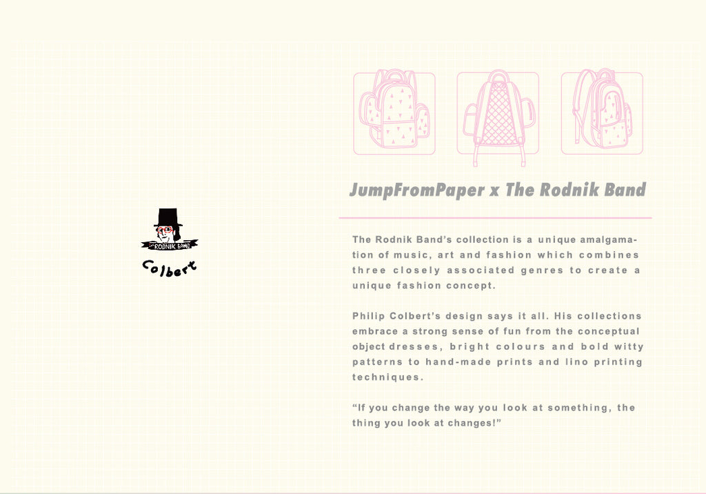 JumpFromPaper Cartoon Bag COLOR ME IN Collection