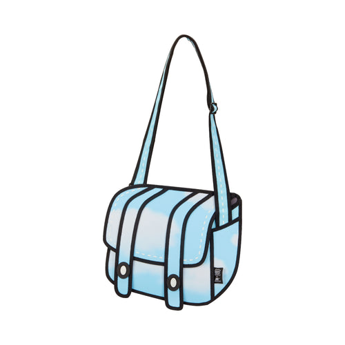 Cheese Sky Blue Messenger Bag - JumpFromPaper