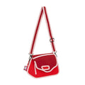 Chili Red Clicky Shoulder Bag - JumpFromPaper