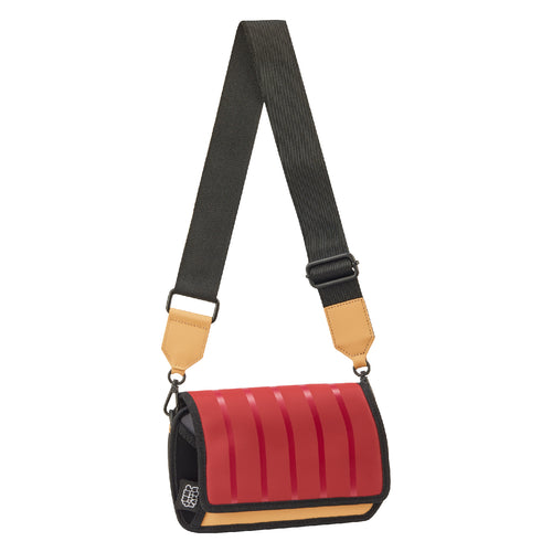 Outer Red Stripe Shoulder Bag - JumpFromPaper