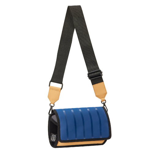 Outer Blue Stripe Shoulder Bag - JumpFromPaper