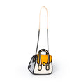 Orange Owl bag / Metal Chain Bag