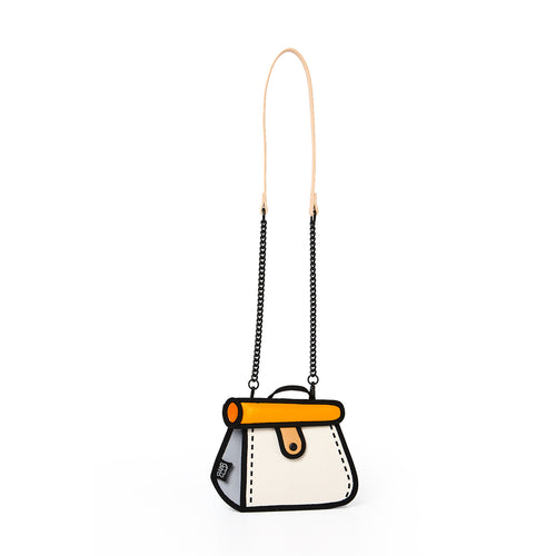 Orange Cake Bag / Metal Chain Bag