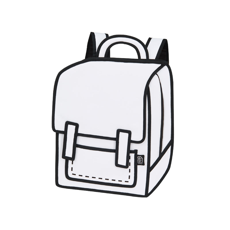 Graffiti White Spaceman Backpack - JumpFromPaper